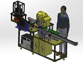 小型电器元件自动装盒机 zdae2002 solidworks 3D图纸 三维模型