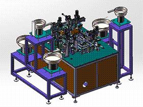 光纤连接器总装图 zdae2004 solidworks 3D图纸 三维模型