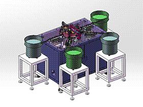电位器自动组装机 带工程图 zdae2005 solidworks 3D图纸 三维模型