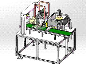 电池自动套管机 zdae2006 solidworks 3D图纸 三维模型