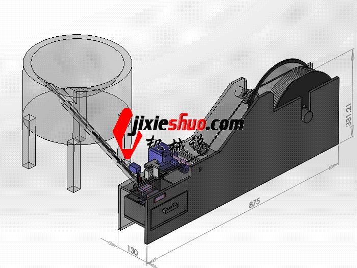 自动套塑胶套管 zdae2010 solidworks 3D图纸 三维模型