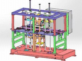 电机转子组装机 ZDAG1001 solidworks  3D图纸 三维模型