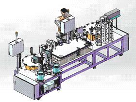 日式保护器装配机 ZDAG1002 solidworks  3D图纸 三维模型