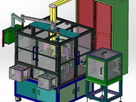 弹簧扣件自动组装机 带工程图 G280 ZDAI2004 solidworks  3D图纸 三维模型