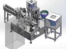 马达波珠弹簧片自动组装机 ZDAI2005 solidworks  3D图纸 三维模型