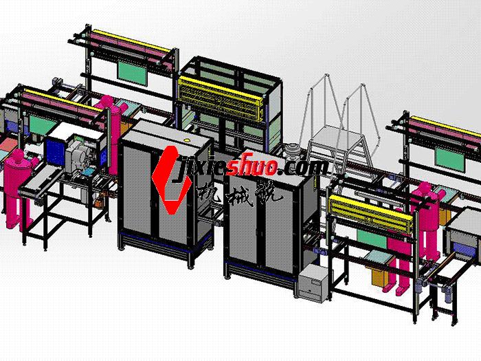 装配流水线 zdaj1003 solidworks格式 3D图纸 三维模型
