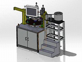 转盘式膨胀阀阀体组装机 ZDAJ2001solidworks 3D图纸 三维模型