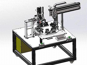 分割器多工位自动检测组装机 ZDAJ2002 solidworks 3D图纸 三维模型