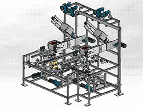 折叠和包装机 ZDBA1001 solidworks 3D图纸 三维模型