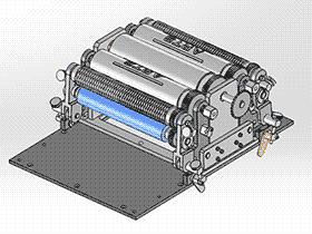 包装机送纸传送机 ZDBA1006 solidworks 3D图纸 三维模型