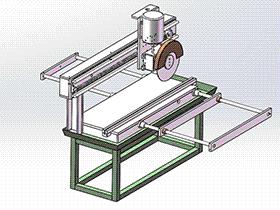 精密切板机、切管机 zdca2004 solidworks格式 3D图纸 三维模型