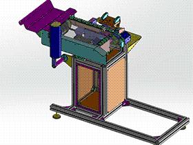 间歇进给切管机 带工程图 zdca2005 solidworks格式 3D图纸 三维模型