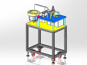 电阻片检测机 ZDJA1013 solidworks 3D图纸 三维模型