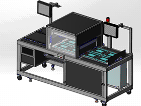 触摸屏探针测试机 ZDJA1014 solidworks 3D图纸 三维模型
