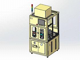 集条码扫描检测非标机器 ZDJA1017 solidworks 3D图纸 三维模型
