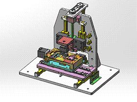 汽车钥匙按键力测试机 ZDJA2008 solidworks格式 3D图纸 三维模型