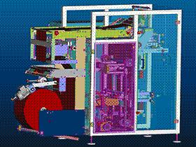 零食立式包装机 ZDBC1005 solidworks  3D图纸 三维模型