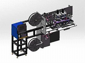 自动电池包装机 ZDBD1009 solidworks 3D图纸 三维模型