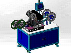 电子产品包装机、小件电子产品自动封装设备 ZDBD1010 solidworks 3D图纸 三维模型