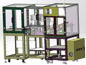 继电器自动检测、自动包装机设备 ZDBD1013 solidworks 3D图纸 三维模型