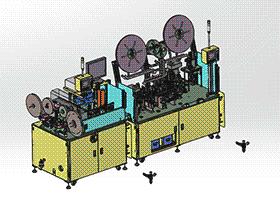 全自动电子连接器组装插片与测试包装机 ZDBD1014 solidworks 3D图纸 三维模型