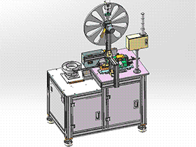 SMD全自动载带包装机 ZDBD1015 solidworks 3D图纸 三维模型