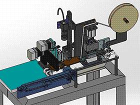 SMD热封包装机 ZDBD1017 solidworks 3D图纸 三维模型