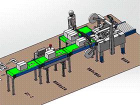 包装检测设备方案 ZDBG1002 solidworks 3D图纸 三维模型