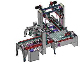 智能封纸箱设备工字型(带CAD工程图) zdbh1010 solidworks 3D图纸 三维模型