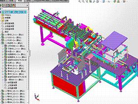 全自动纸箱包装机设计 zdbh1015 solidworks 3D图纸 三维模型