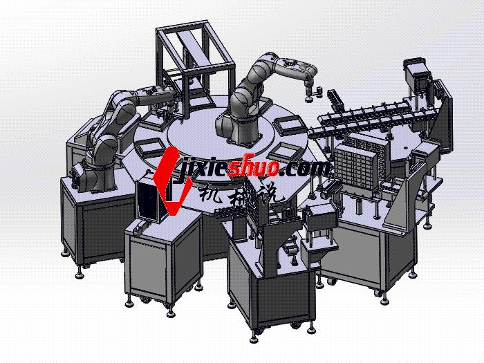 手机彩盒自动包装流水线 zdbh1016 solidworks 3D图纸 三维模型