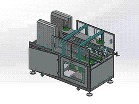 开箱机 方案图 zdbh1018 solidworks 3D图纸 三维模型