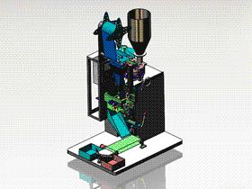 全自动立式封装机 ZDBK2001 solidworks 3D图纸 三维模型