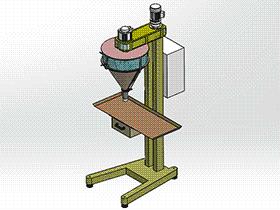 半自动粉剂包装机 ZDBK2002 solidworks 3D图纸 三维模型