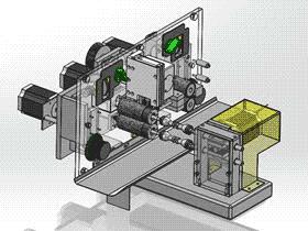 全自动剥皮剪线机 ZDCB2001 solidworks  3D图纸 三维模型