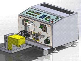 全自动剥皮剪线机 ZDCB2003 solidworks  3D图纸 三维模型