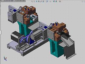 端子折弯裁切机 ZDCD1003 solidworks 3D图纸 三维模型