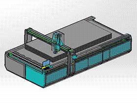龙门式横切纵割机 ZDCD1014 solidworks 3D图纸 三维模型