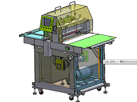 日本式横切机(蜗轮蜗杆) zdcd2004 solidworks 3D图纸 三维模型