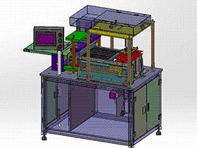 电池极片裁切机裁大片机 zdcd2011 Solidworks 格式 3D图纸 三维模型