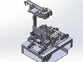 电容电阻切脚机 ZDCE1002 solidworks 3D图纸 三维模型