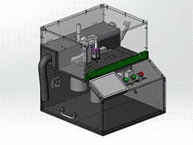 手机电源壳切割检测机 ZDCE2003 solidworks 3D图纸 三维模型
