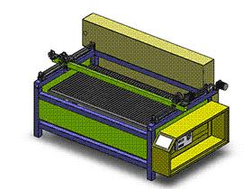激光切割机 ZDCJ1001 solidworks  3D图纸 三维模型