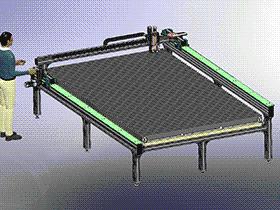 数控切割机 ZDCJ1002 solidworks  3D图纸 三维模型