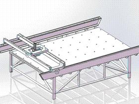 龙门架结构 ZDCJ1003 solidworks  3D图纸 三维模型