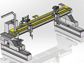 数控龙门等离子气体切割机GT4000_带工程图_T61_ZDCJ2003