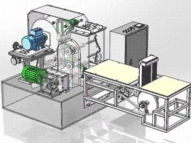 自动进料木板切割机 ZDCS1001 solidworks 3D图纸 三维模型