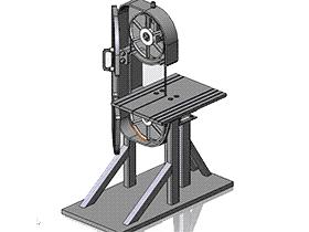 带锯 ZDCS1002 solidworks 3D图纸 三维模型