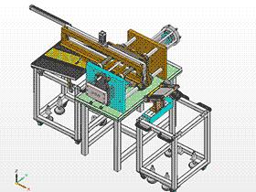 自动给料开槽机 ZDCS1008 solidworks 3D图纸 三维模型