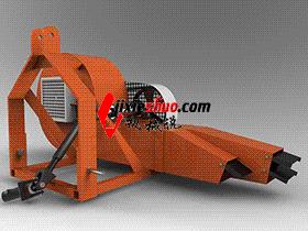 果园条形鼓风机 ZDCS1011 solidworks 3D图纸 三维模型